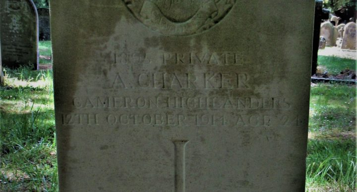 Private Arthur Charker of the 4th Queen's Own Cameron Highlanders