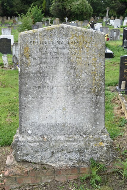 Sergeant Major Matthew Clay Born 6th March 1796 – Died 5th June 1873